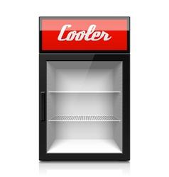 Mini glass door display cooler vector
