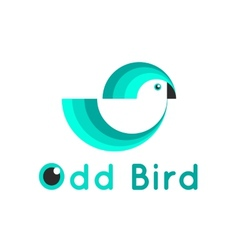 Modern simple bird logo vector