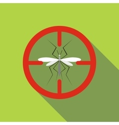 Mosquito icon flat style vector