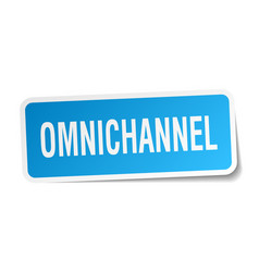 Omnichannel square sticker on white vector