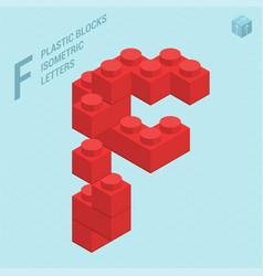 plastic blocs letter f vector image