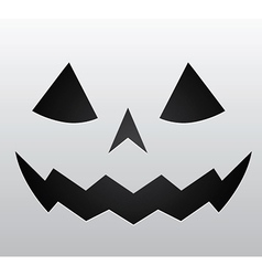 Pumpkin face vector image