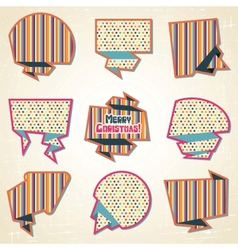 Retro speech bubbles set vector image vector image