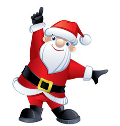 santa claus pointing up vector image vector image