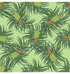 Seamless pattern with colourful parrot vector image