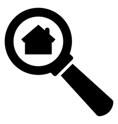 Search home icon vector image