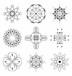 Set of floral patterns vector