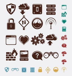 set of network icons vector image vector image