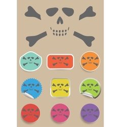 Skull and bones - a mark of the danger warning vector
