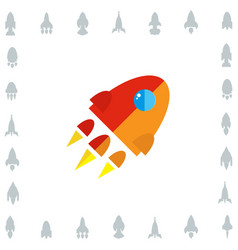 space rocket icon or startup symbol vector image vector image