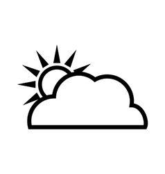 Sun design isolated weather icon graphic vector image