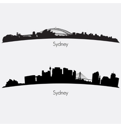 Sydney skylines vector image vector image