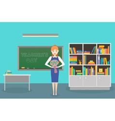 Teacher day vector
