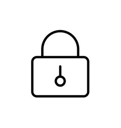 thin line closed lock icon vector image