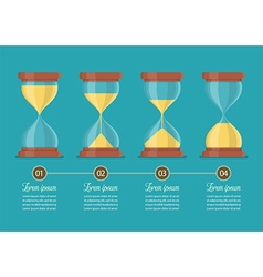 Transparent sandglass icon set infographic vector image vector image