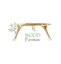 wood interior logo vector image