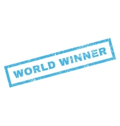 World winner rubber stamp vector