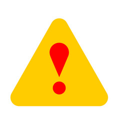 Yellow triangle exclamation mark icon warning sign vector