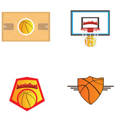 Set of basketball vector