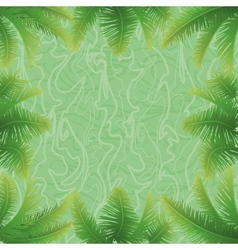 Palm leaves and abstract pattern vector