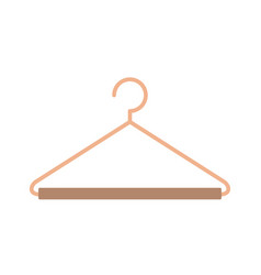 Silhouette color with hook closet shirt vector
