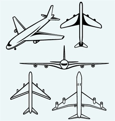 Collection of different airplane vector