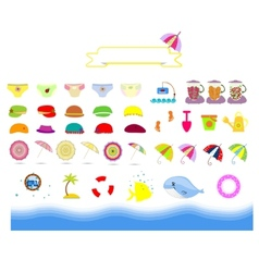 Isolated summer beach stuff on a white background vector