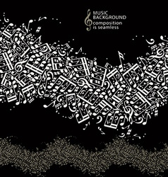 Abstract music background with seamless vector