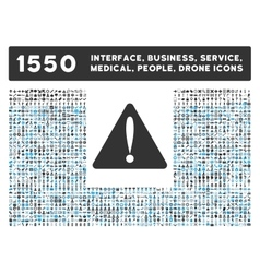 Warning error icon and more interface business vector