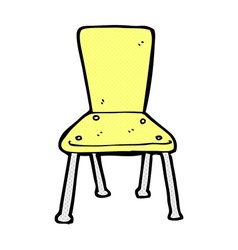 Comic cartoon old school chair vector