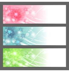Floral background horizontal banner vector