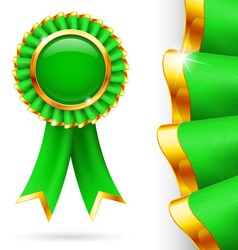 Green award ribbon vector