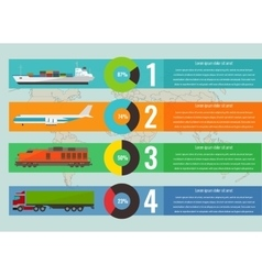 Transportation logistics concept with infographics vector