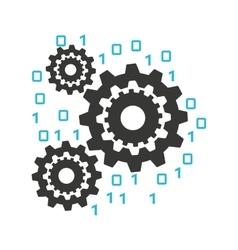 Gears machine work icon vector