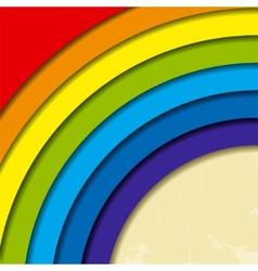 Abstract retro rainbow background vector