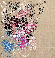 art pattern on cardboard vector image