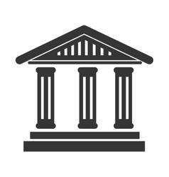 bank building symbol icon vector image