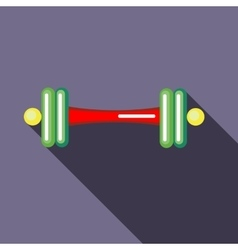 Barbell icon in flat style vector image