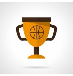 Basketball award flat color design icon vector image