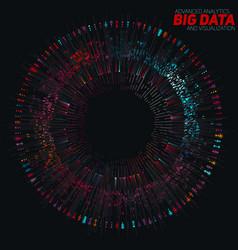 Big data circular colorful vector