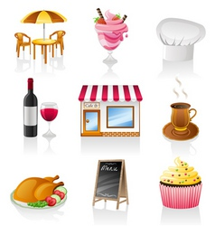 cafe icons vector image