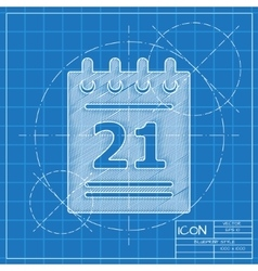 calendar icon Eps10 vector image