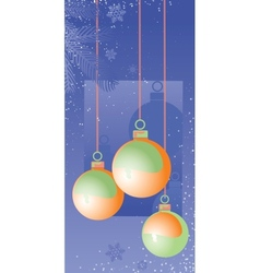 Christmas decorations2 vector image vector image