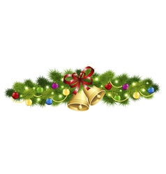 Christmas fir garland vector image