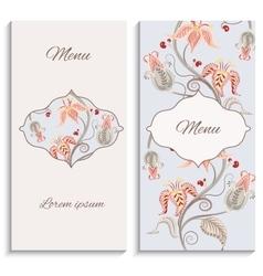 Color floral vintage ornament menu vector image vector image