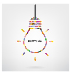 Creative light bulb idea sign vector