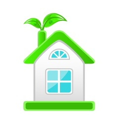 eco-friendly house vector image
