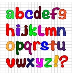 English alphabet vector image