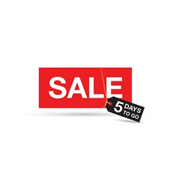 five days to go sale sign vector image vector image