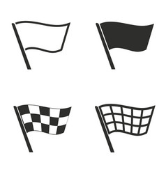 Flag icons set vector